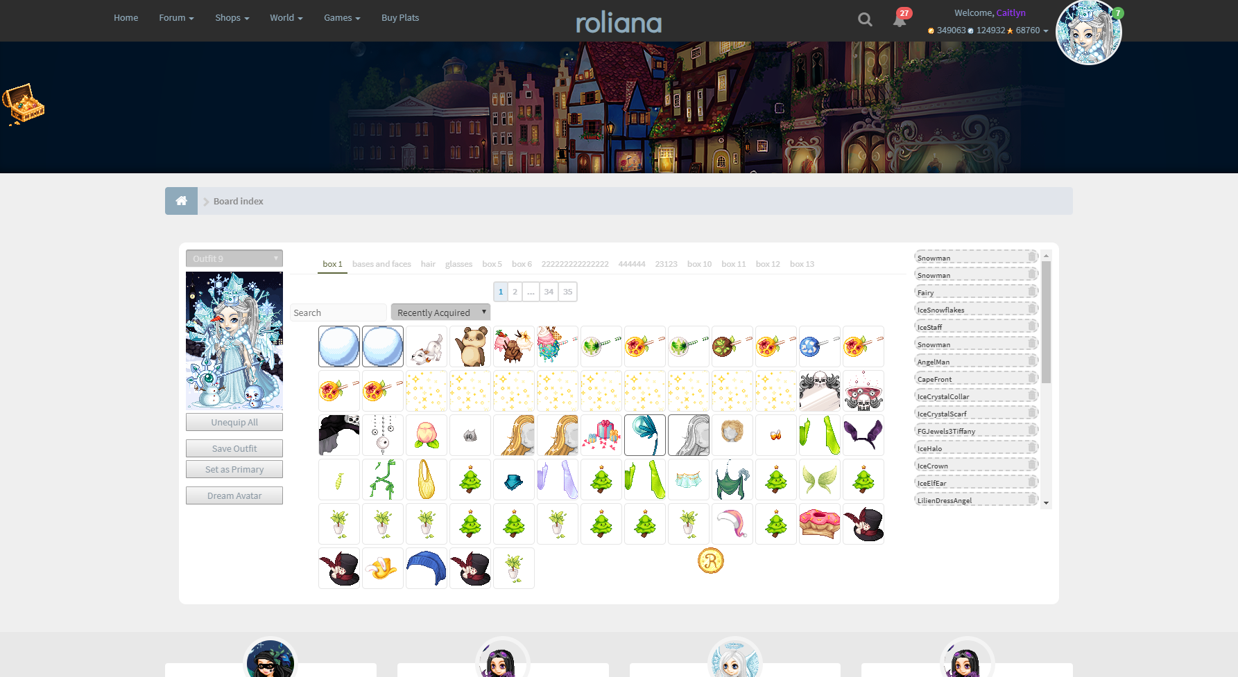 Roliana.com Avatar creation page